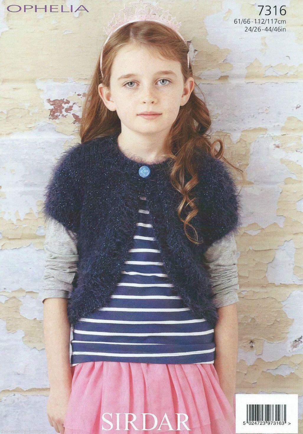 7316 Sirdar Ophelia Chunky Bolero Knitting Pattern To Fit 24 To 46